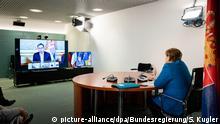 Deutschland Berlin | Video-Gipfeltreffen zum Westbalkan-Konflikt