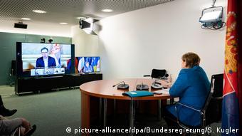 Deutschland Berlin | Video-Gipfeltreffen zum Westbalkan-Konflikt (picture-alliance/dpa/Bundesregierung/S. Kugler)