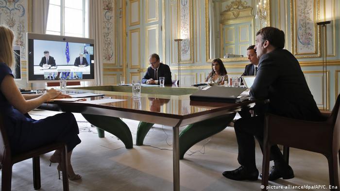 Frankreich Paris | Video-Gipfeltreffen zum Westbalkan-Konflikt