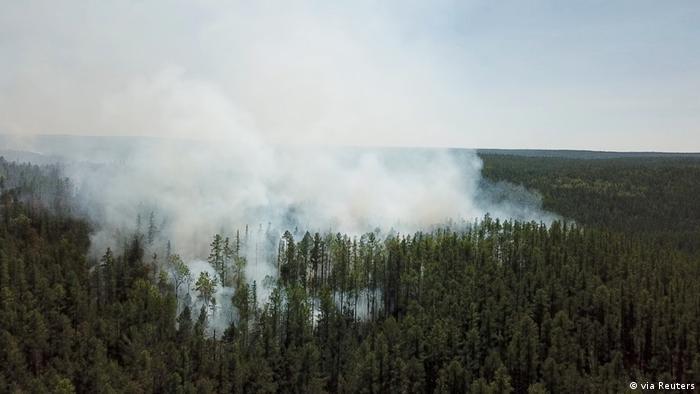 Incêndio florestal na Sibéria