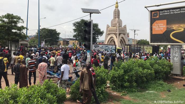 La place de l'indépendance de Bamako