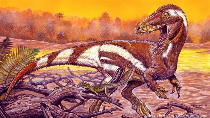 Ilustração de como deve ter sido o 'Aratasaurus museunacionali'