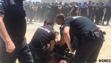 Bulgarien Rosenetz Protest vor Park