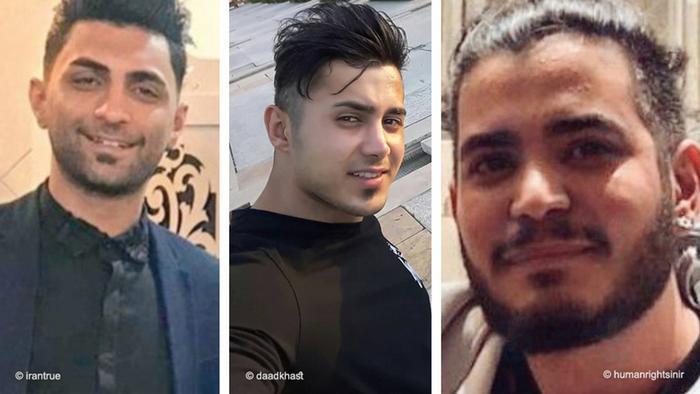 حکم اعدام این سه جوانکه متهم به مشارکت در تخریب و تحریق به قصد مقابله با نظام شده بودند، از سوی دیوان عالی کشور متوقف شد. توقف این احکام و پذیرش اعاده دادرسی از سوی دیوان عالی کشور، در پی اعتراضهای جهانی صورت گرفت.