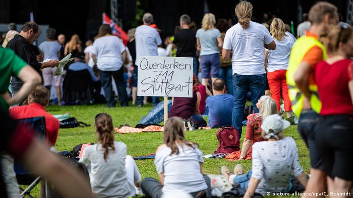 Protesters in Stuttgart