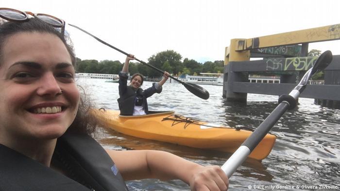 Berlin Treptower Park |Paddeln Emily Gordine & Olivera Zivkovic