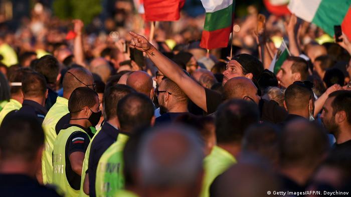 Protesters in Sofia