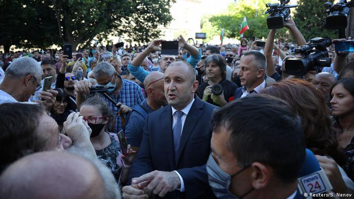 Rumen Radev among supporters