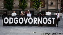 Serbien Belgrad: Jahrestag Genozid in Srebrenica DW, Una Sabljakovic, 10. Juli 2020