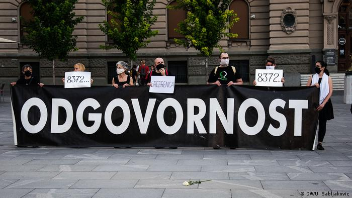 Serbien Belgrad | Jahrestag Genozid in Srebrenica (DW/U. Sabljakovic)