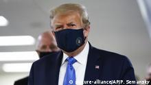 USA I Bethesda I Präsident Donald Trump I COVID-19