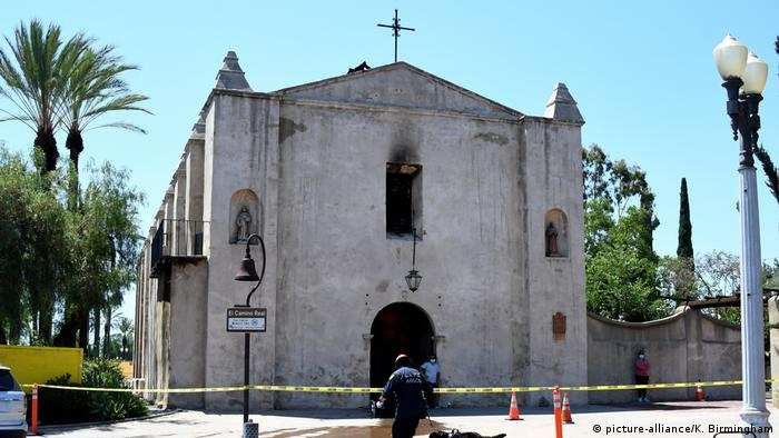 San Gabriel Mission after the fire