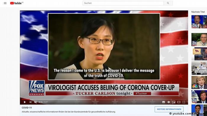 Screenshot Fox News zu Covid-19