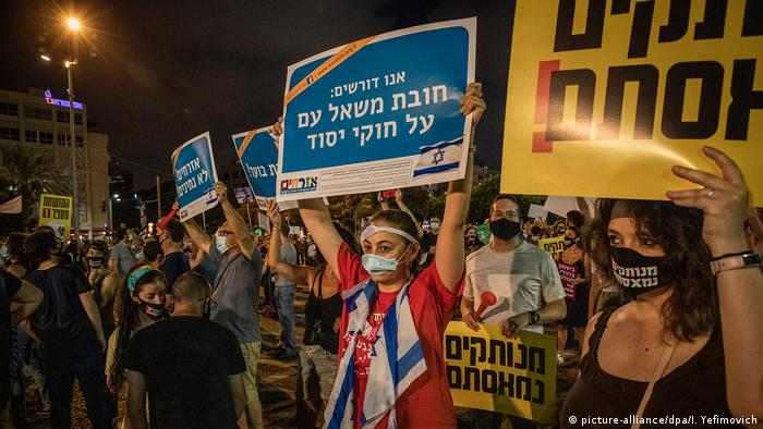 Protesters take to the streets of Tel Aviv
