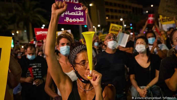 Israel I COVID-19 Protest in Tel Aviv