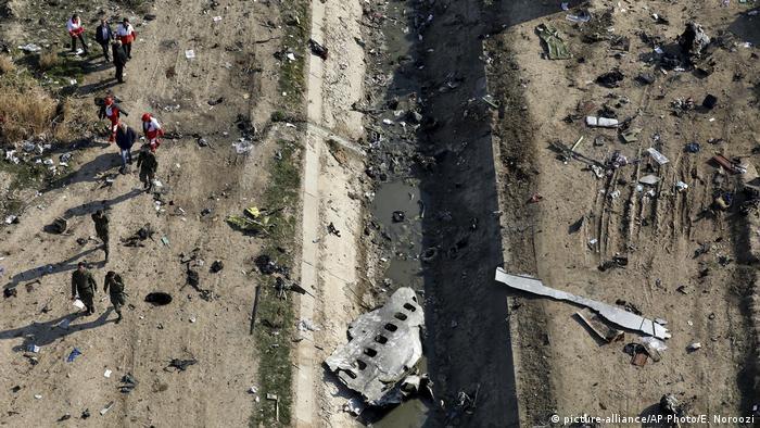 Уламки збитого під Тегераном літака МАУ