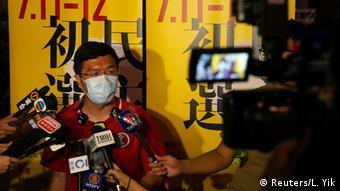 Hongkong Vorwahlen 2020 |Au Nok-hin, ehemaliges Mitglied Legislativrat (Reuters/L. Yik)