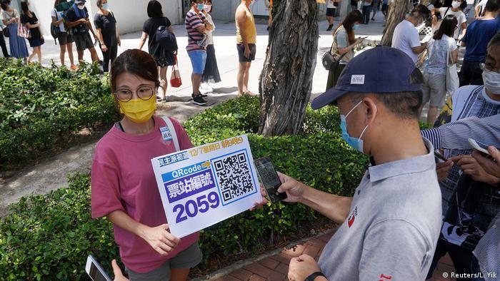 Hongkong Vorwahlen 2020 (Reuters/L. Yik)