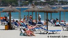 Spanien Palma de Mallorca | Coronavirus | Touristen am Strand