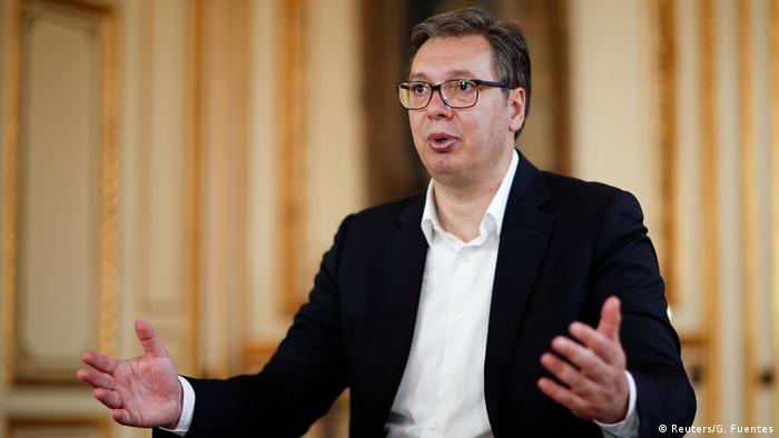 Frankreich Paris  Aleksandar Vucic, Präsident Serbiens
