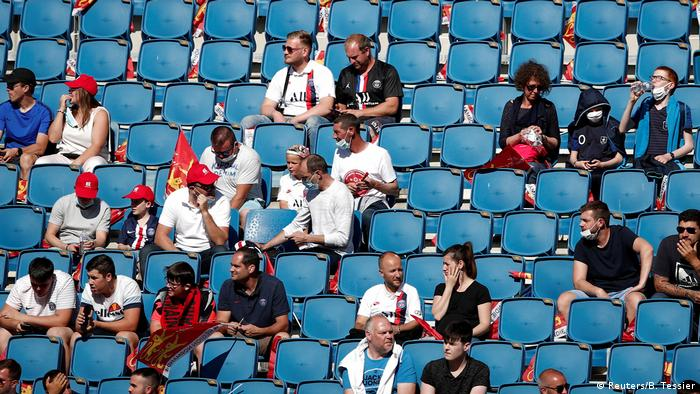 Fans in the stands before the match