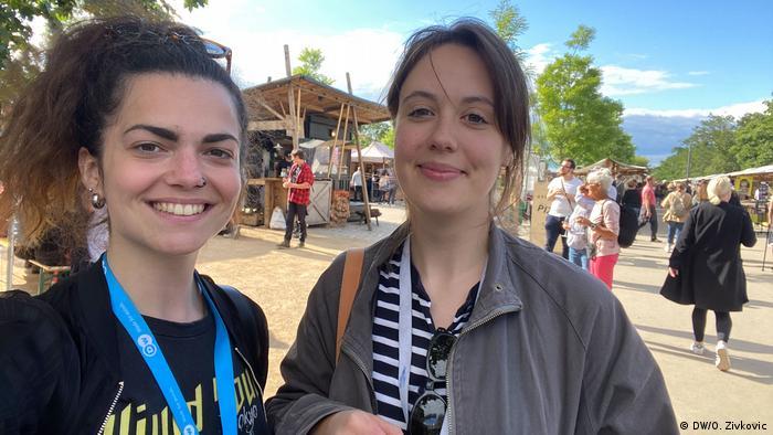 DW COVID Travel Diaries |Gordine & Zivkovic |Berlin Mauerpark (DW/O. Zivkovic)