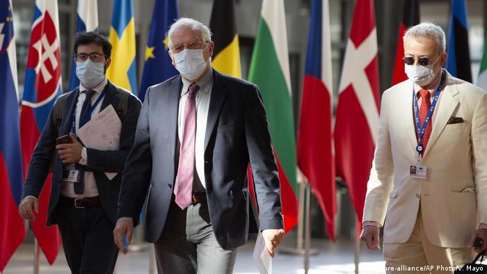 European Union policy chief Josep Borrell arrives in Brussels