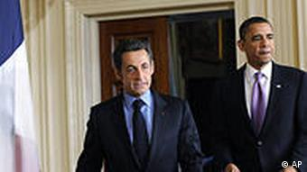 USA Frankreich Nicolas Sarkozy bei Barack Obama in Washington
