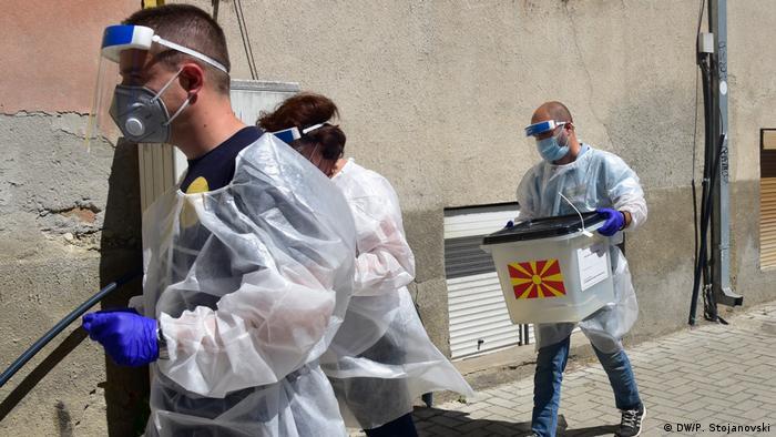 Nord Mazedonien | Parlamentwahlen in Skopje in Corona-Zeiten (DW/P. Stojanovski)