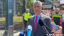 Den Haag Anklage Hashim Thaci Präsident Kosovo