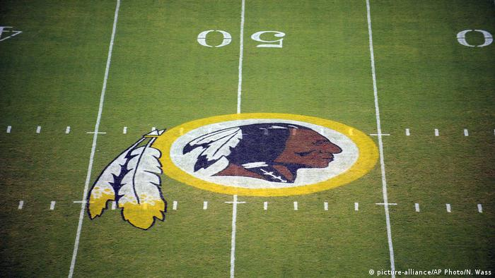 USA Washington Redskins football pitch