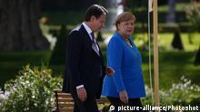 Deutschland Merkel empfängt den italienischen Ministerpräsident Conte auf Schloss Meseberg
