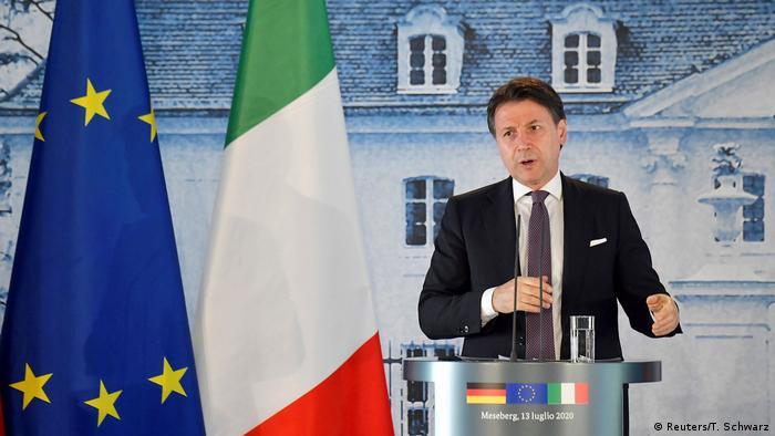 Deutschland Berlin |Angela Merkel & Giuseppe Conte, Ministerpräsident Italien (Reuters/T. Schwarz)