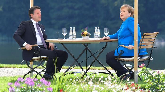 Deutschland Berlin  Angela Merkel & Giuseppe Conte, Ministerpräsident Italien