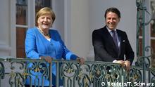 Deutschland Berlin |Angela Merkel & Giuseppe Conte, Ministerpräsident Italien