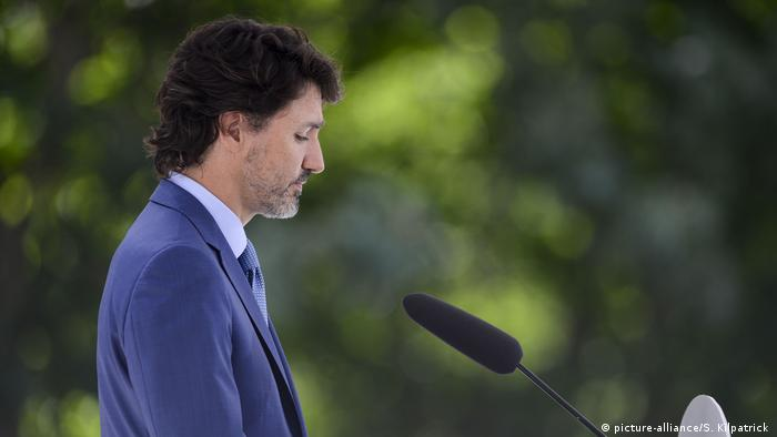 Kanada I Ottawa I COVID-19 I Premierminister Justin Trudeau hält Pressekonferenz