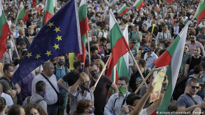 Bulgarien I Proteste in Sofia (picture-alliance/dpa/V. Petrova)