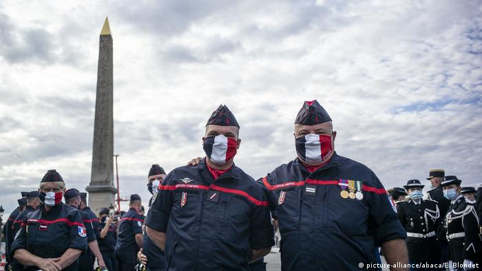 Frankreich | Bastille Day | Nationalfeiertag 2020 | Coronavirus | Militärparade (picture-alliance/abaca/E. Blondet)