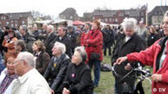 A demonstration against the NPD in Duisburg