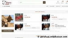 Bangladesch | Kuhhandel Online-Shop | Screenshot