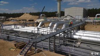 Стройплощадка газопровода Eugal, наземного продолжения Северного потока - 2