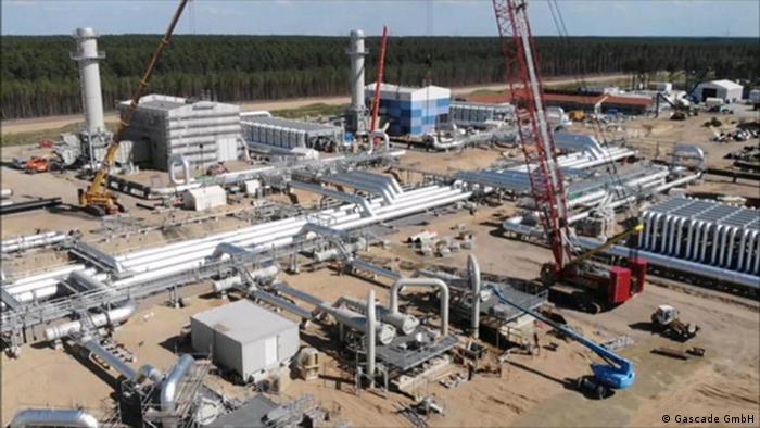 Pipeline-Baustelle von Eugal in Brandenburg