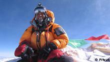 ***ACHTUNG: Bild nur zur abgesprochenen Berichterstattung verwenden!*** via Stefan Nestler Sophia Danenberg auf dem Gipfel des Mount Everest im Mai 2006 Rechte: Privat