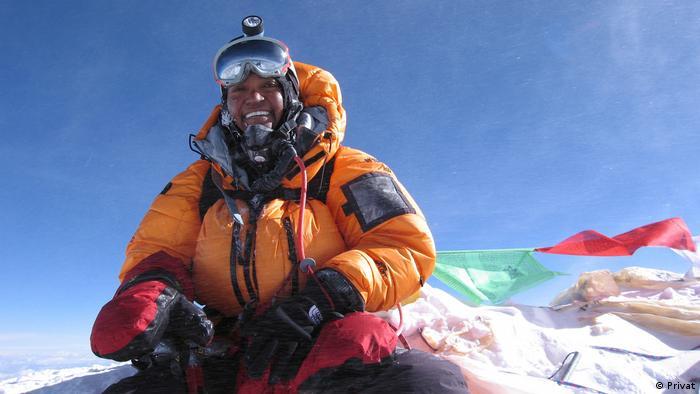 Sophia Danenberg on Everest in 2006