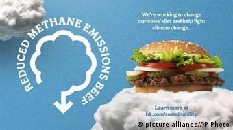 Burger King methane reduction promotion (picture-alliance/AP Photo)