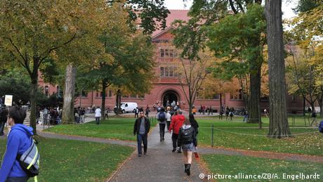 Students on the Harvard campus in 2013
