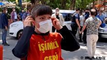 Thema: Jahrestag Putschversuch Türkei. Nach dem Ermittlungen sind 160 tausend Menschen entlasten. Nazan Bozkurt protestiert seit 3,5 Jahren in Ankara. Sie möchte ihren Job zurück. Bilder wurden von Kori. Hilal Köylü gemacht. Alle Rechte frei.