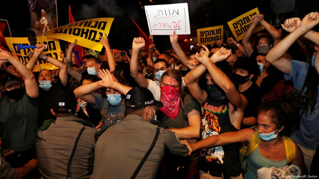 Thousands of protesters in Israel call on Netanyahu to resign   News   DW    14.07.2020