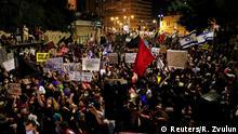 Israel Protest vor Netanyahu Residenz