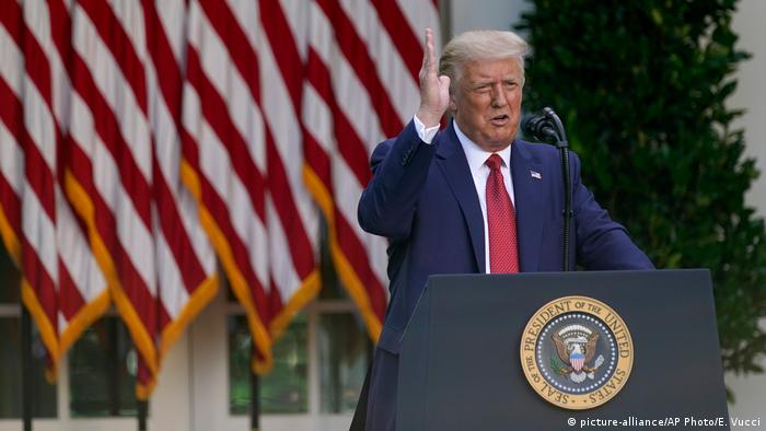 USA | US-Präsident Trump | PK im Rosengarten (picture-alliance/AP Photo/E. Vucci)